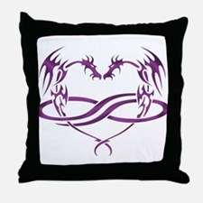 Purple Polydragon Throw Pillow