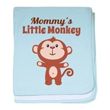 Mommys Little Monkey baby blanket