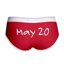 """May 20"" printed on a Women's Boy Brief"
