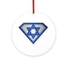 Super Israeli/Jew Ornament (Round)
