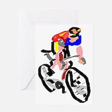 Cyclist Greeting Card