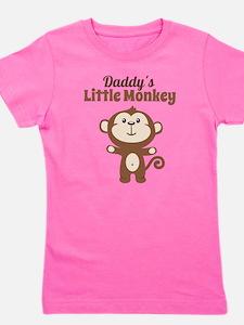 Daddys Little Monkey Girl's Tee