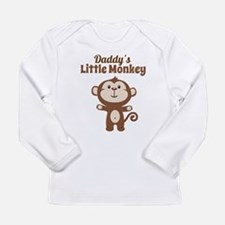 Daddys Little Monkey Long Sleeve T-Shirt