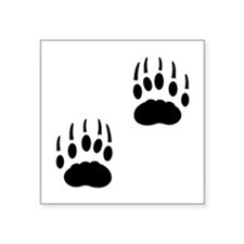 Badger Tracks Rectangle Sticker