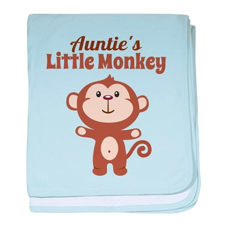 Aunties Little Monkey baby blanket