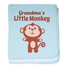 Grandmas Little Monkey baby blanket