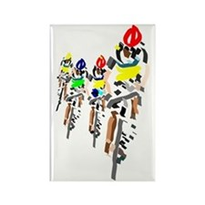 Cyclists Rectangle Magnet