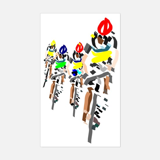 Cyclists Sticker (Rectangle)
