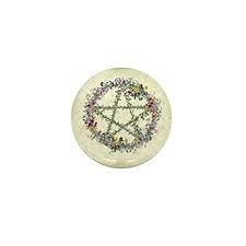 Wiccan Wreath Mini Button