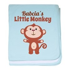 Babcias Little Monkey baby blanket
