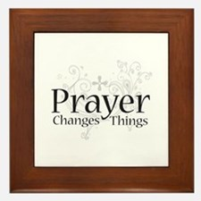 Prayer Changes Things Framed Tile