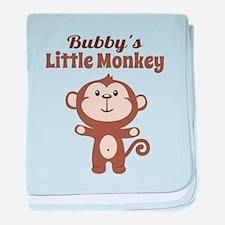 Bubbys Little Monkey baby blanket