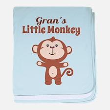 Grans Little Monkey baby blanket