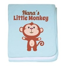 Nanas Little Monkey baby blanket