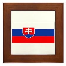 Slovakia Blank Flag Framed Tile