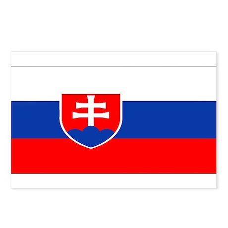 Slovakia Blank Flag Postcards (Package of 8)