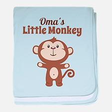 Omas Little Monkey baby blanket