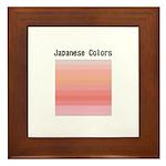 Japanese Colors Framed Tile