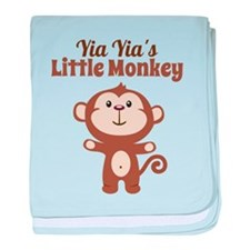 Yia Yias Little Monkey baby blanket