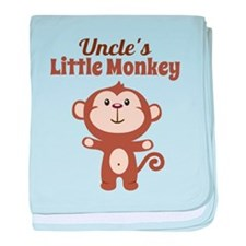 Uncles Little Monkey baby blanket