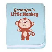 Grandpas Little Monkey baby blanket
