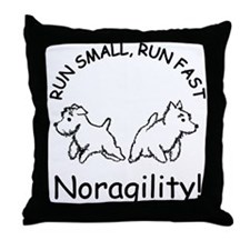 Noragility Throw Pillow
