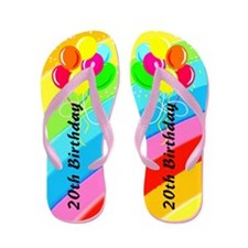 ADORABLE 18TH Flip Flops