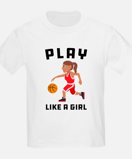 Emoji Play Like a Girl T-Shirt