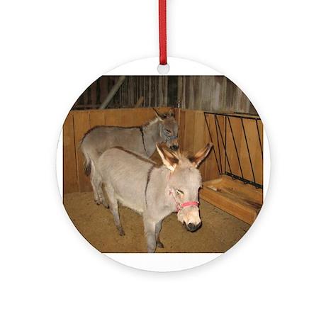 Round Ornament- Burros