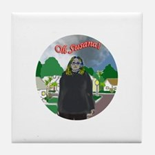 Oh Susana! black clouds (white background) Tile Co