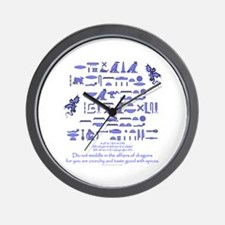 Affairs of Dragons (Egyptian) Wall Clock