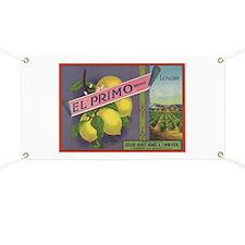 Vintage Fruit Vegetable Crate Label Banner