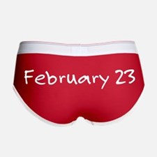 """February 23"" printed on a Women's Boy B"