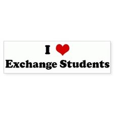 I Love Exchange Students Bumper Bumper Sticker