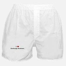 I Love Exchange Students Boxer Shorts