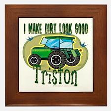 Triston Tractor Framed Tile