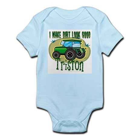 Triston Tractor Infant Bodysuit