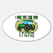 Triston Tractor Oval Decal