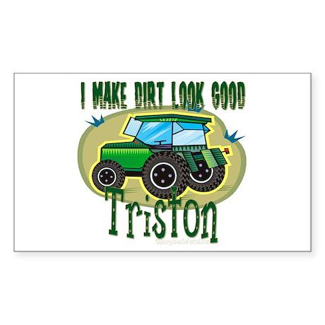 Triston Tractor Rectangle Sticker