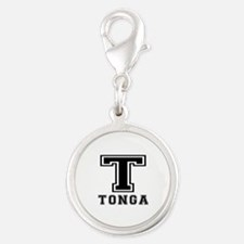 Tonga Designs Silver Round Charm