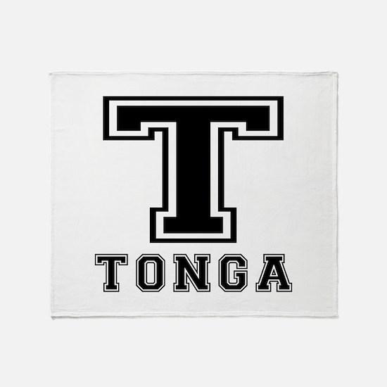 Tonga Designs Throw Blanket