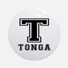 Tonga Designs Ornament (Round)