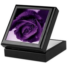 Purple Rose Keepsake Box