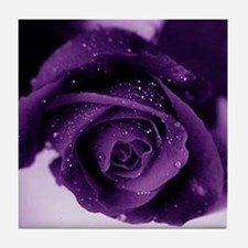 Purple Rose Tile Coaster