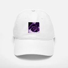 Purple Rose Baseball Baseball Cap