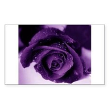 Purple Rose Rectangle Decal