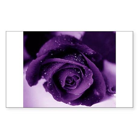 Purple Rose Rectangle Sticker