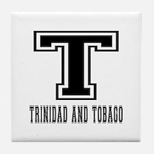 Trinidad and Tobago Designs Tile Coaster