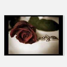 One Rose Postcards (Package of 8)
