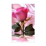 Pink Rose Rectangle Sticker
